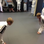 Kids Jiu Jitsu training at Hart's in Conshohocken.