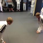 Kids Jiu Jitsu training at Hart's in Conshohocken.