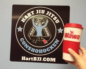 Conshohocken WAWA Coffee and some AM Jiu Jitsu training.