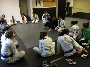 Women's Jiu Jitsu training group at Harts in Conshohocken PA.